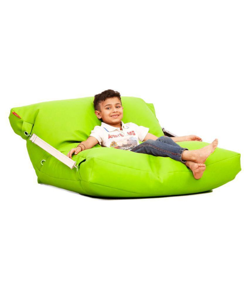 Prime Couchette Lounger Bed Bean Bag Filled With Beans In Green Alphanode Cool Chair Designs And Ideas Alphanodeonline