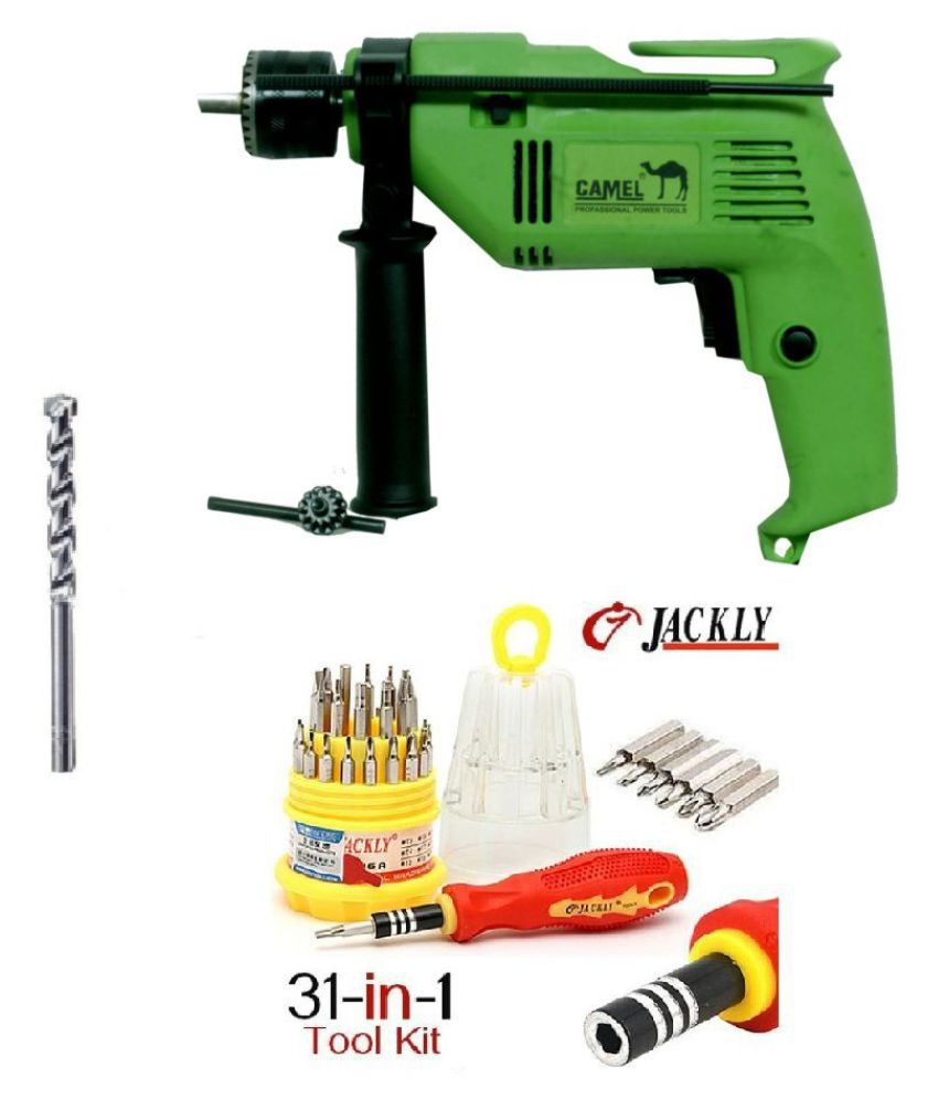 Camel - CID13 500W 13mm Corded Drill Machine with Bits