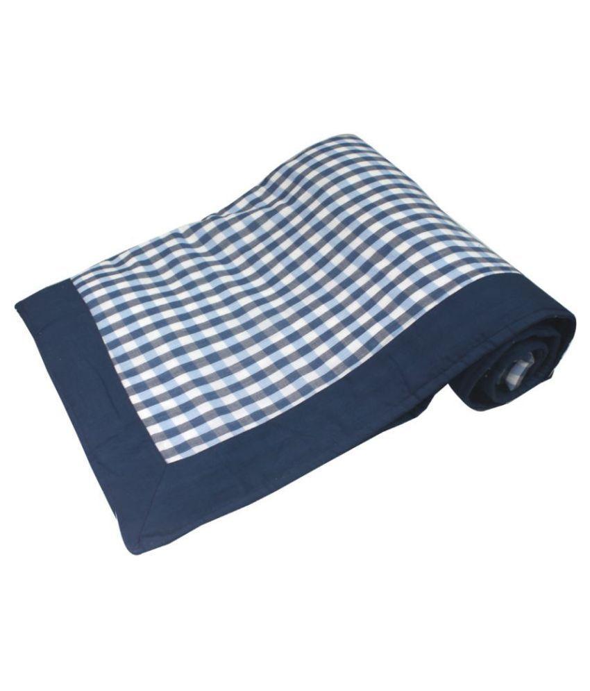 Polka Single Cotton Blue Checks Dohar