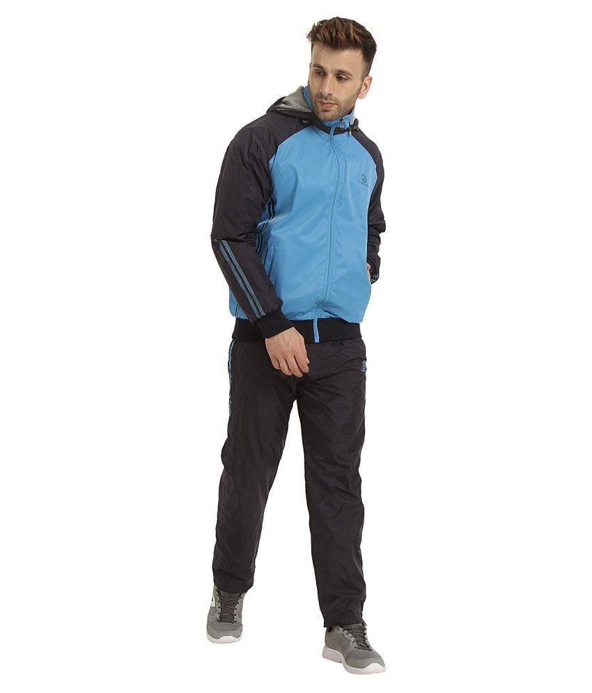 CHKOKKO Men's Hooded Full Zipper Reversible Tracksuit for Athletics Jogging Gym and Sports