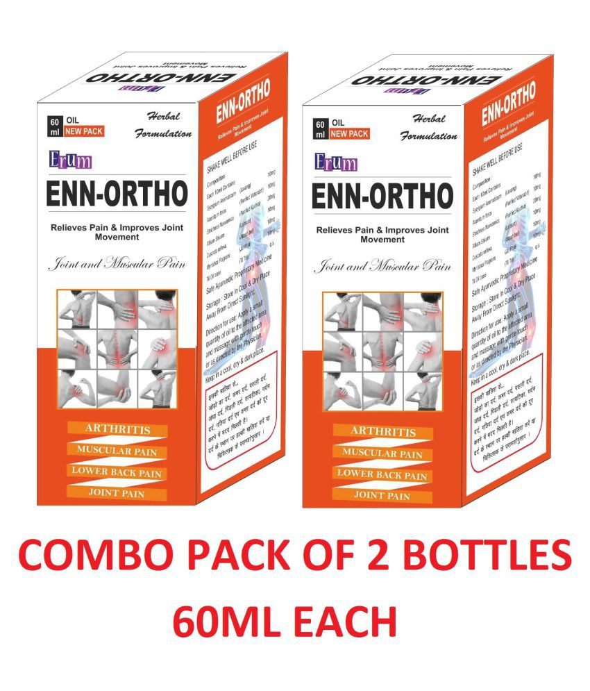 Enn-Ortho Oil Arthritis and Joints Pain Relief Oil Pack Of 2