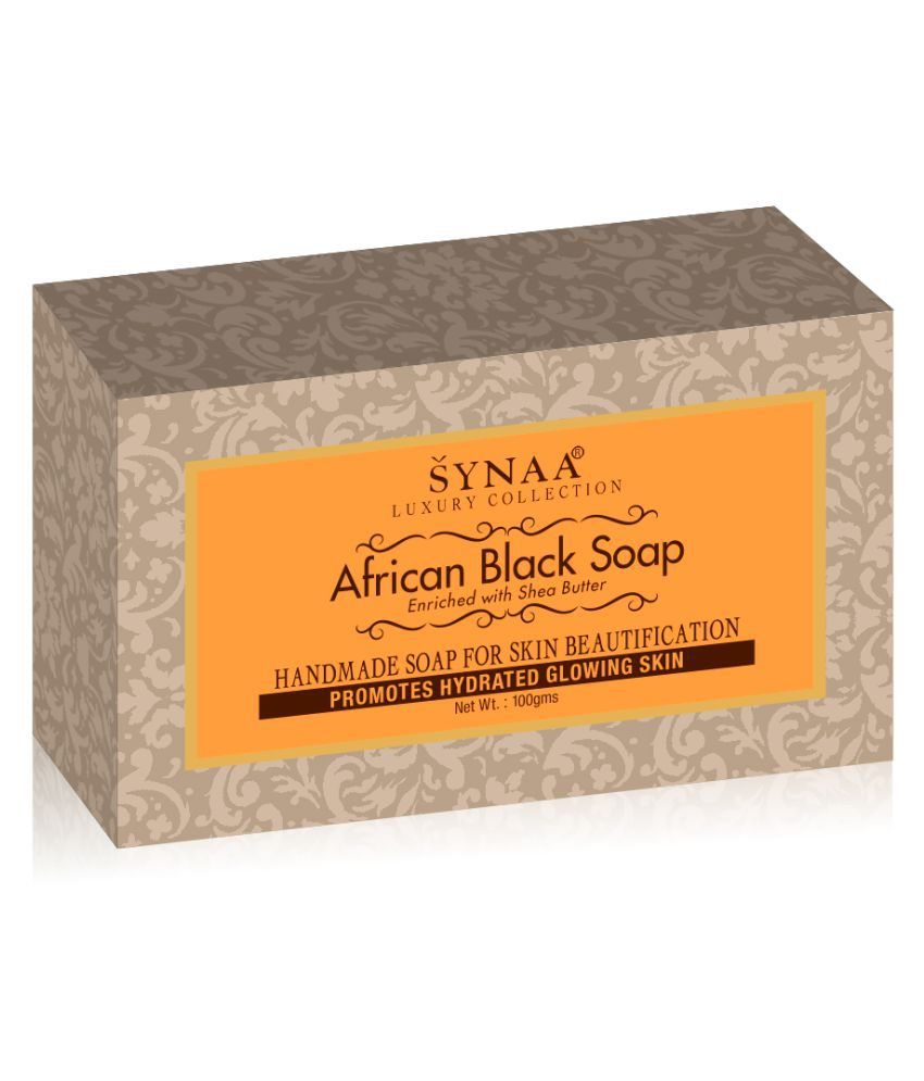 Synaa African Black Handmade Soap 300 g Pack of 3