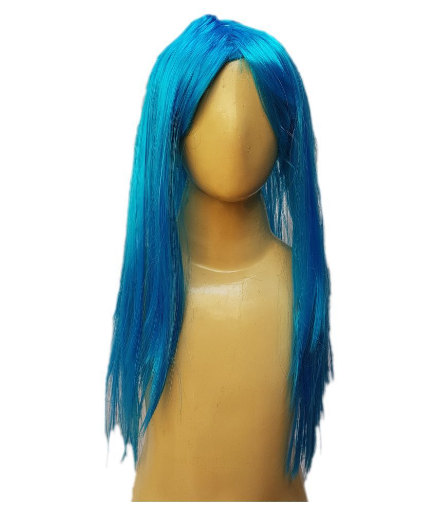 Kaku Fancy Dresses  Ladies Girl straight styler Firozi Color Hair Wig For Kids Festival/Annual function/Theme Party/Competition/Stage Shows/Birthday Party Dress