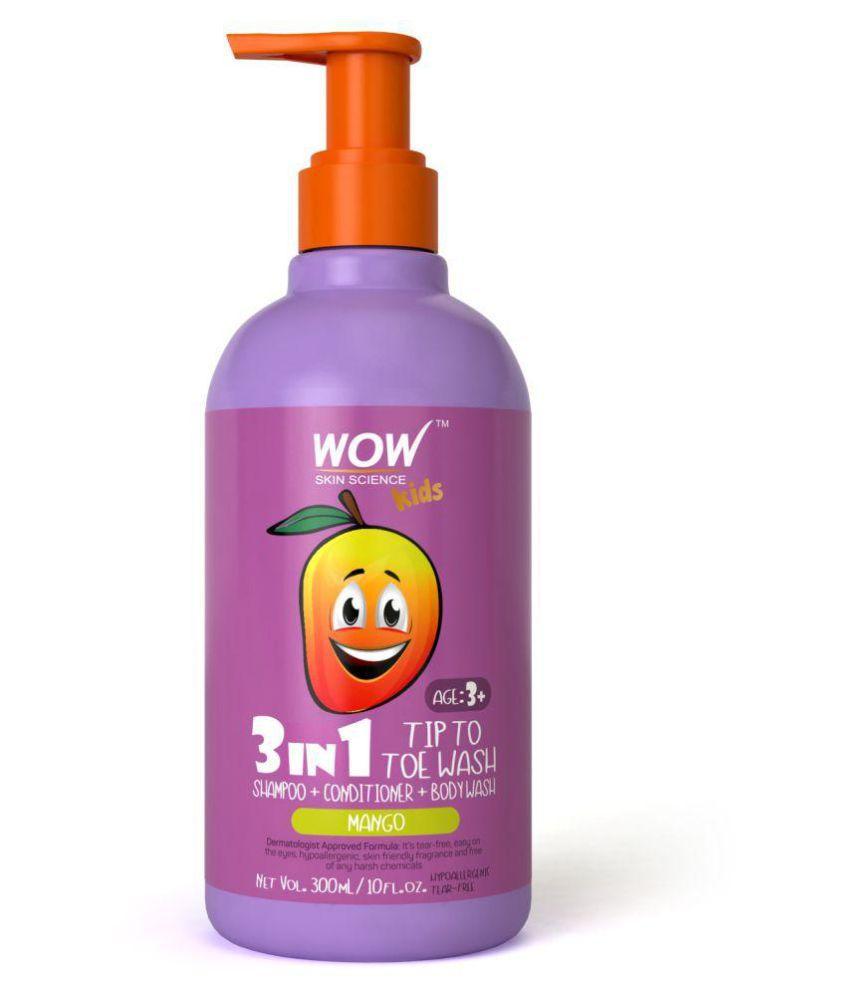 809c121cb2d1 WOW Skin Science Kids 3 in 1 Tip to Toe Wash - Mango Shampoo 300 ml