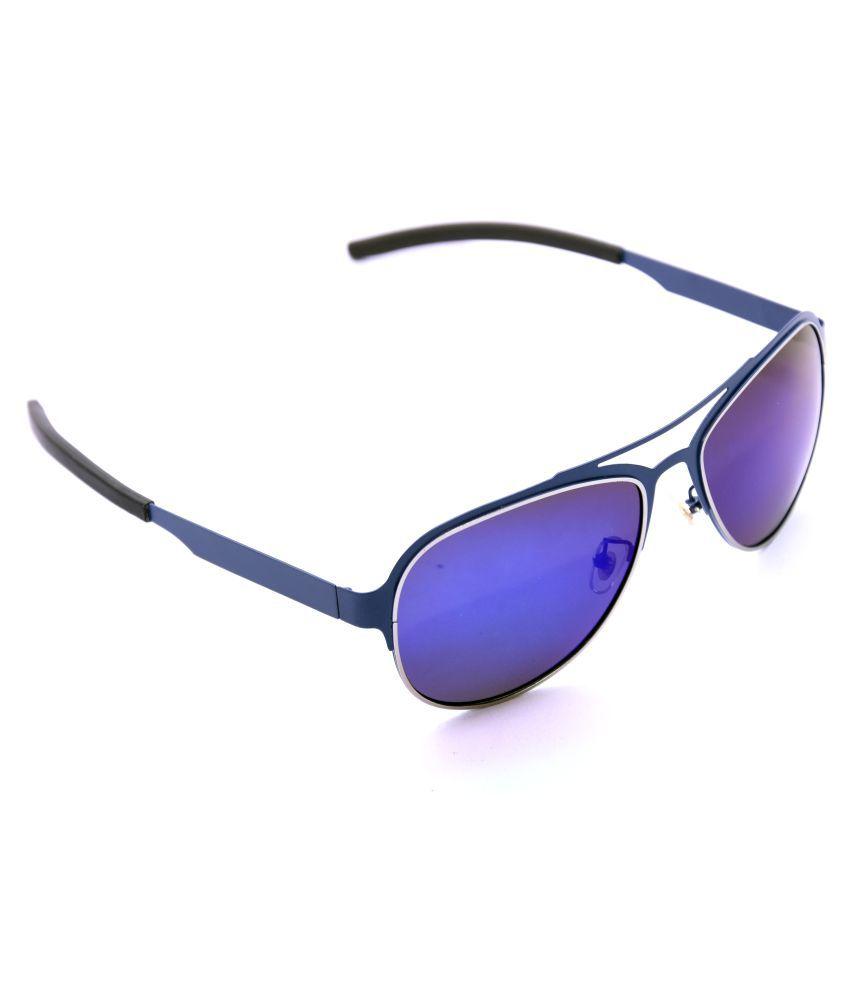 YOU & EYE Blue Aviator Sunglasses ( m-102 )