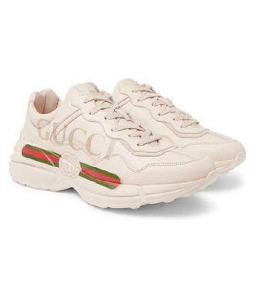 57d7f1b348c Gucci White Running Shoes - Buy Gucci White Running Shoes Online at Best  Prices in India on Snapdeal