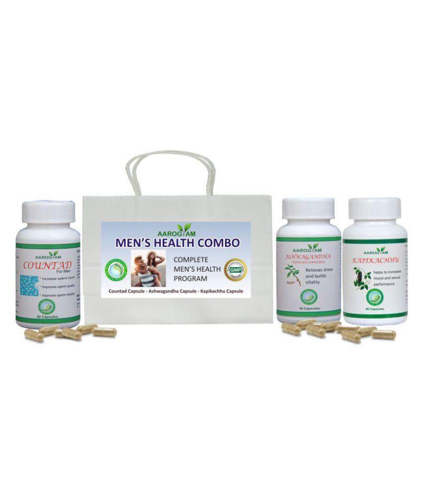 Aarogyam Men's Health Combo Capsule 500 mg Pack of 3