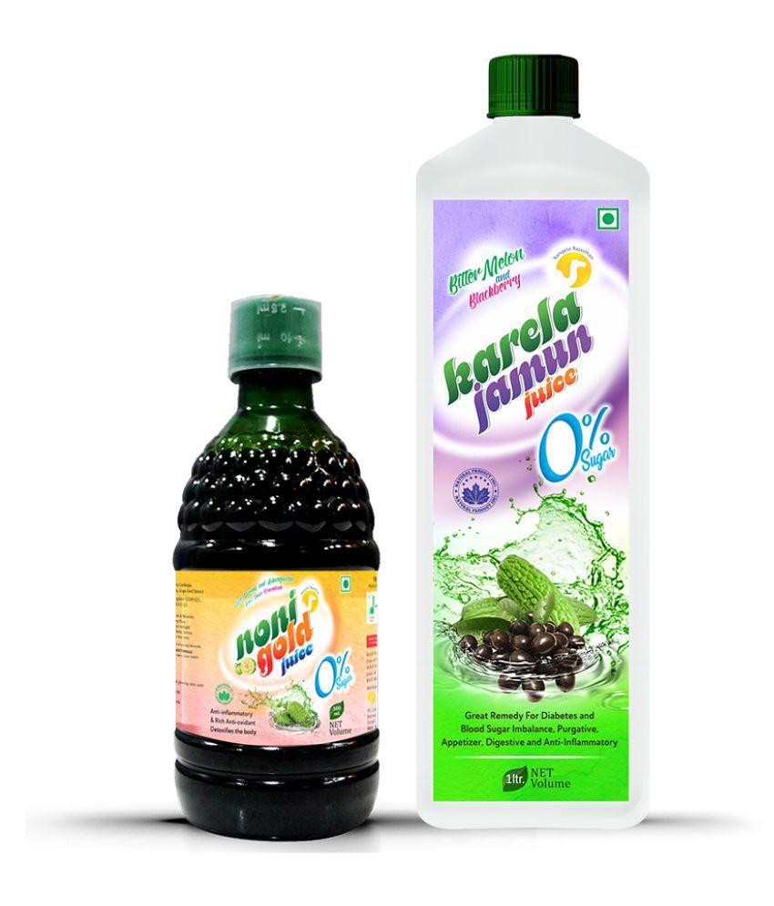 Rangelo Rajasthan Noni Gold 500ml.& Karela Jamun Juice-1000ml.(Combo Pack) Health Drink 1500 ml