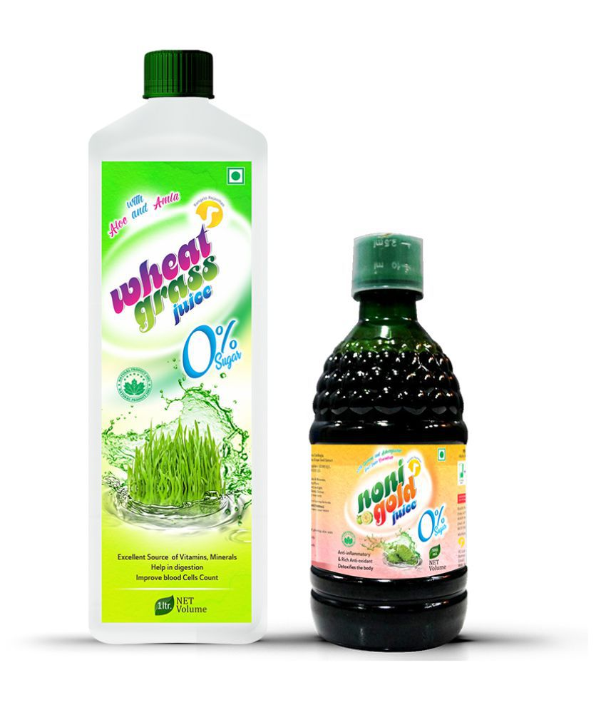 Rangelo Rajasthan Wheatgrass -1000ml & Noni Gold Juice -500ml. (Combo Pack) Health Drink 1500 ml
