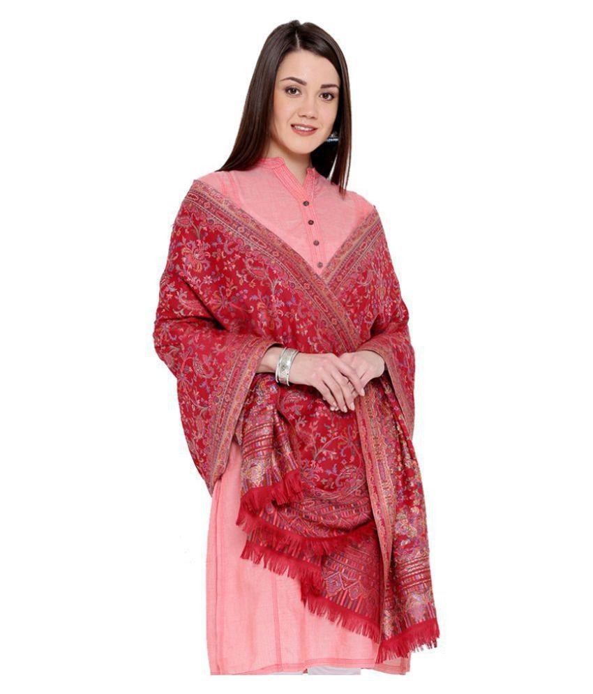 Weavers Villa Maroon Kani Shawl