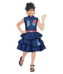 1c64e94b8d Quick View. Denim Blue Stylish Partywear Girl Dress
