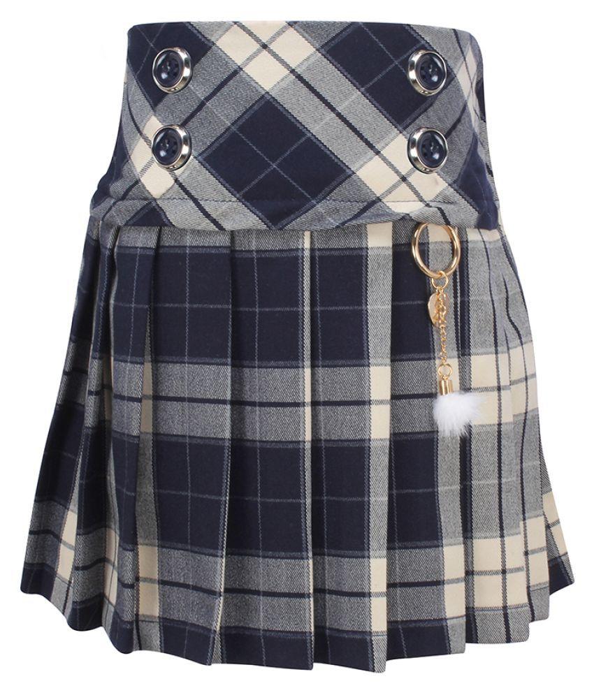 Cutecumber Girls Partywear Yarn Dye Fabric Skirt
