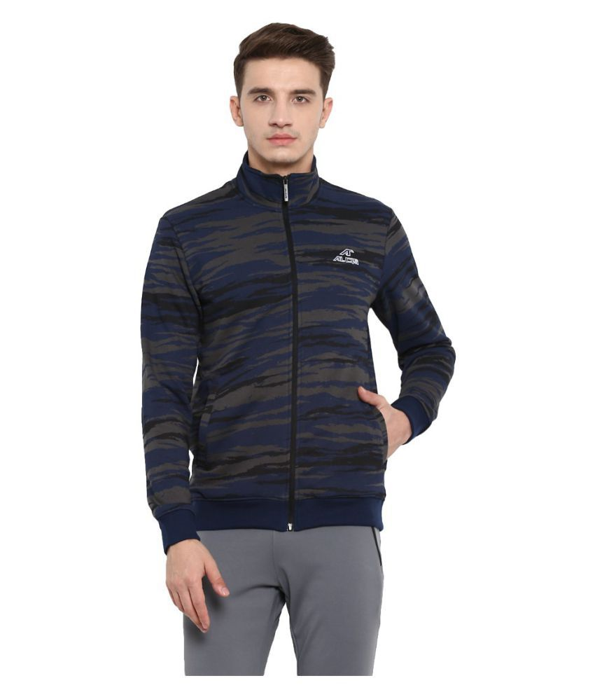 Alcis Navy Cotton Polyester Fleece Jacket Single Pack