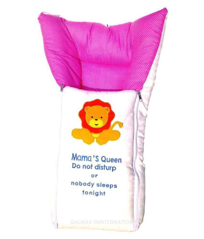 GAURAV INTERNATIONAL Pink Polyester Sleeping Bags ( 64 cm × 41 cm)