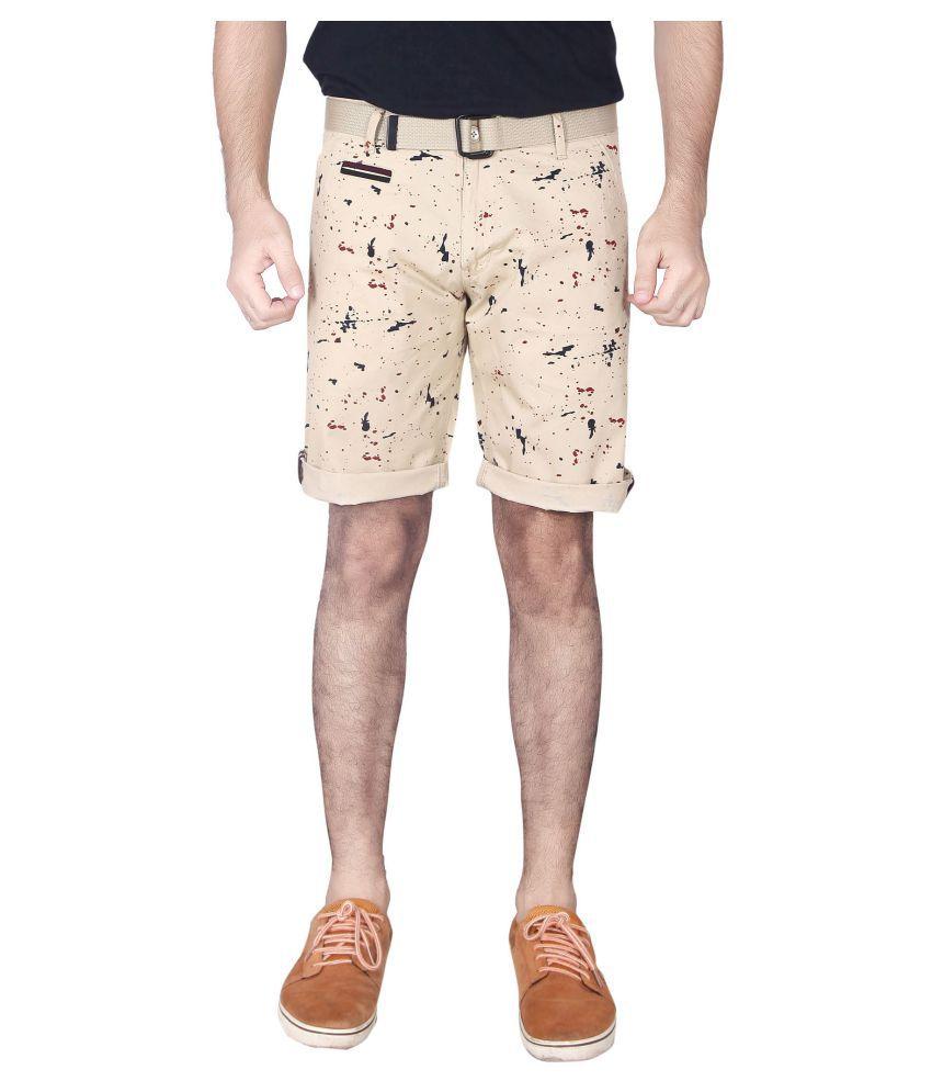 SHOWMAN Beige Shorts Single