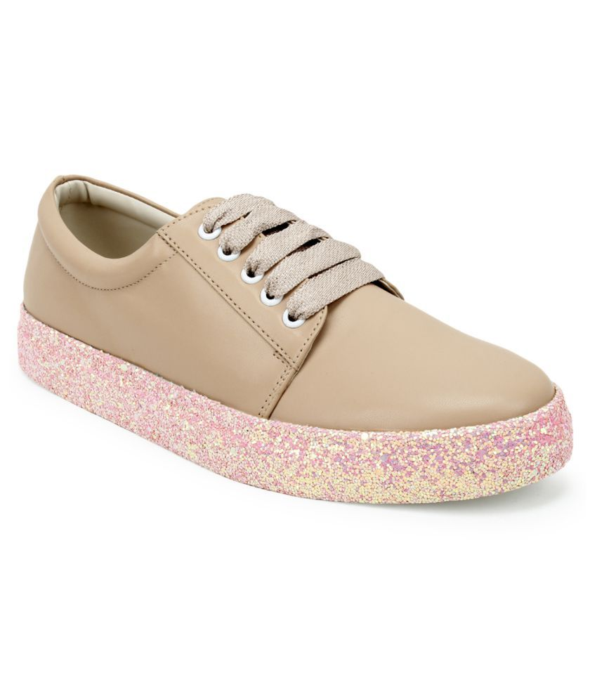 Scentra Beige Casual Shoes