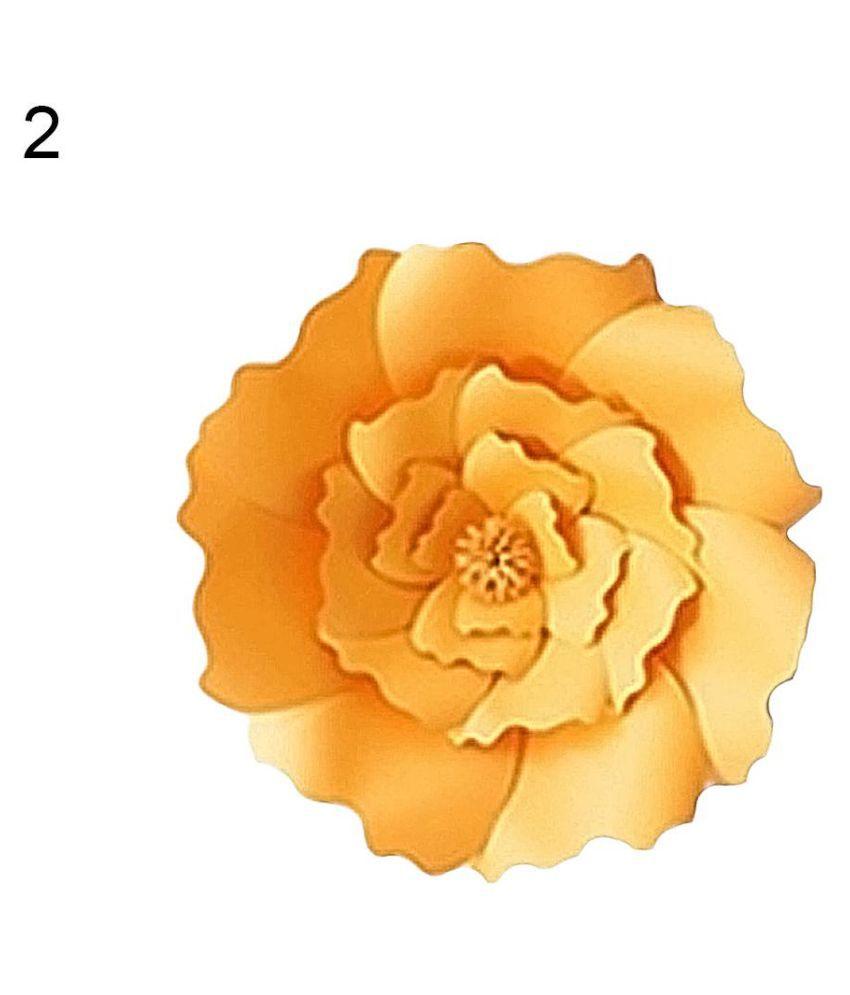 2pcs 20cm Diy Paper Flower Handmade Petals Craft For Home Wedding