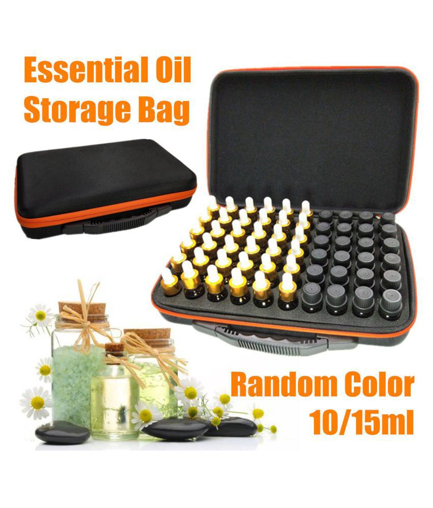 10ml /15ml 60 Bottles Essential Oil Storage Bag Portable Travel Carrying Case Aromatherapy Box Handbag Organizer Accessories