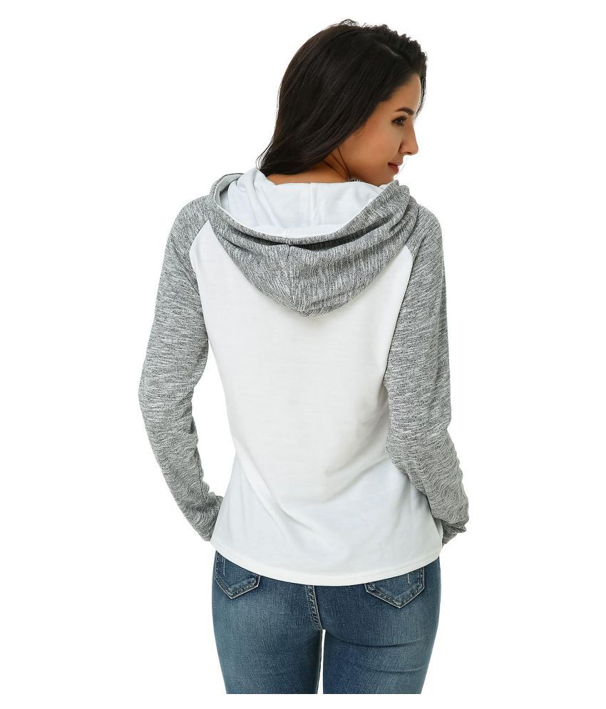 Auxo Women' s Hoodie Raglan Long Sleeve Color Block Hooded Pullover Sweatshirt Tops