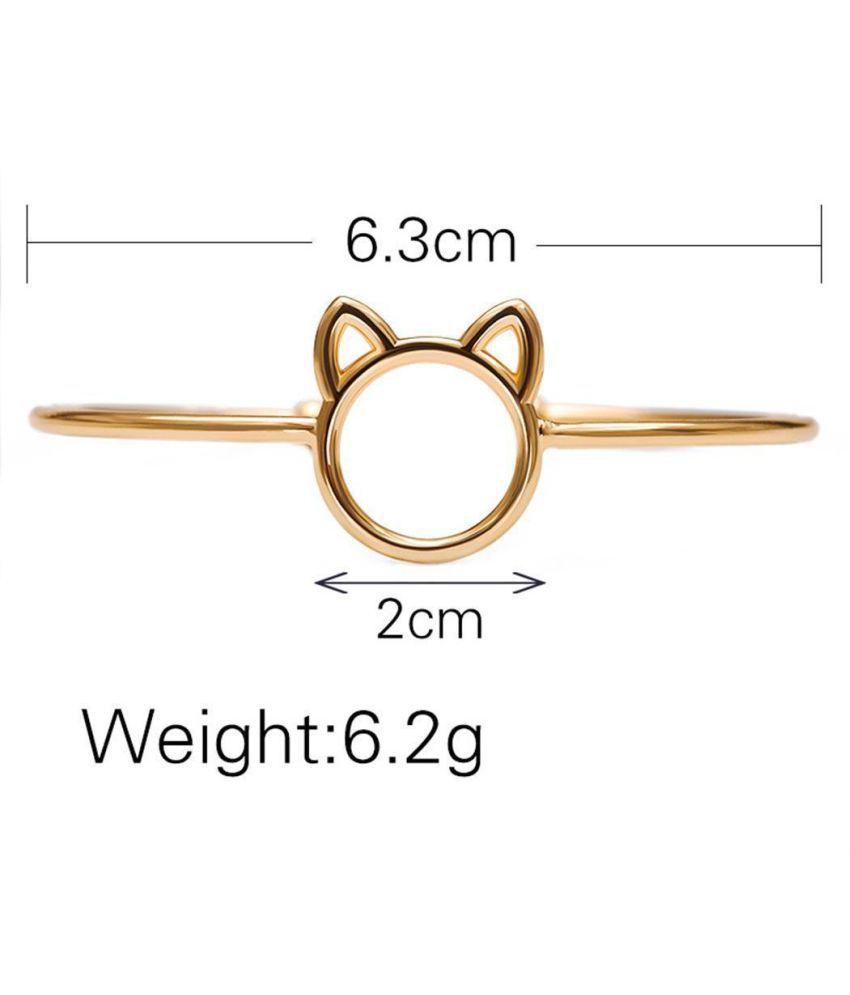 Women Fashion Cute Alloy Beautiful Cat Pattern Bracelet: Buy