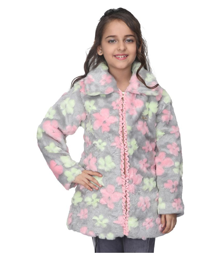 Cutecumber Girls Partywear Fur Jacket