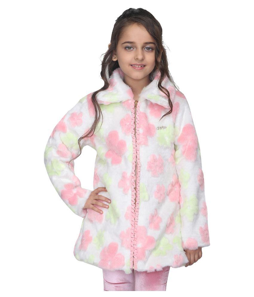 Cutecumber Girls Partywear Fur Jacket