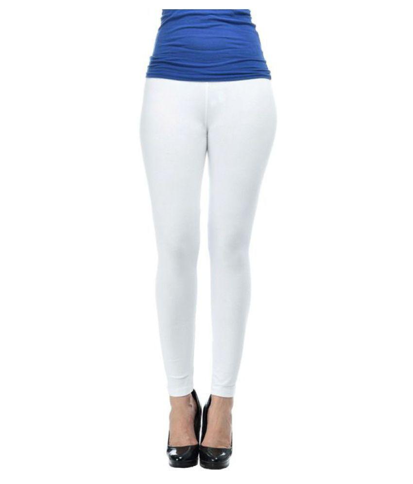KEP White Cotton Leggings