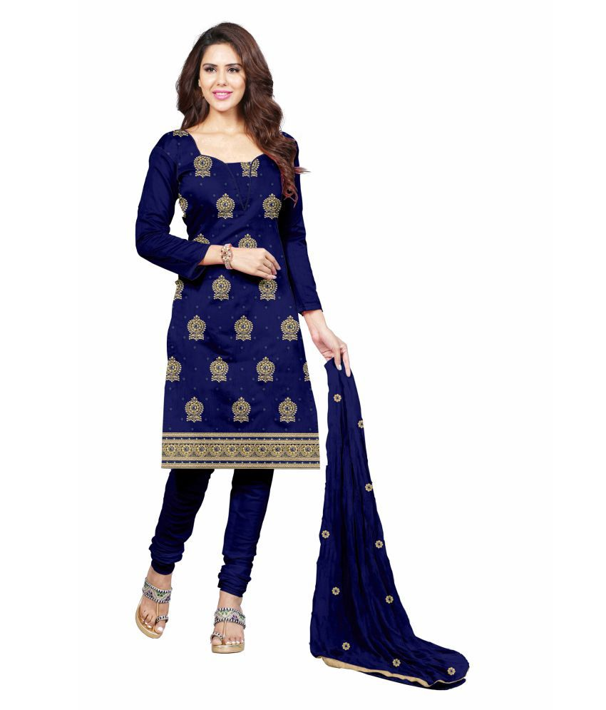 4e2f4029b9 Udaan Blue Cotton Dress Material - Buy Udaan Blue Cotton Dress Material  Online at Best Prices in India on Snapdeal