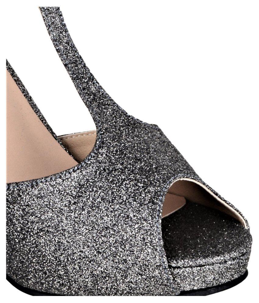 aee77e002b6 sherrif shoes Gray Kitten Heels Price in India- Buy sherrif shoes ...