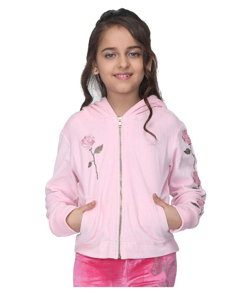 Cutecumber Girls Partywear Velour Sweatshirt