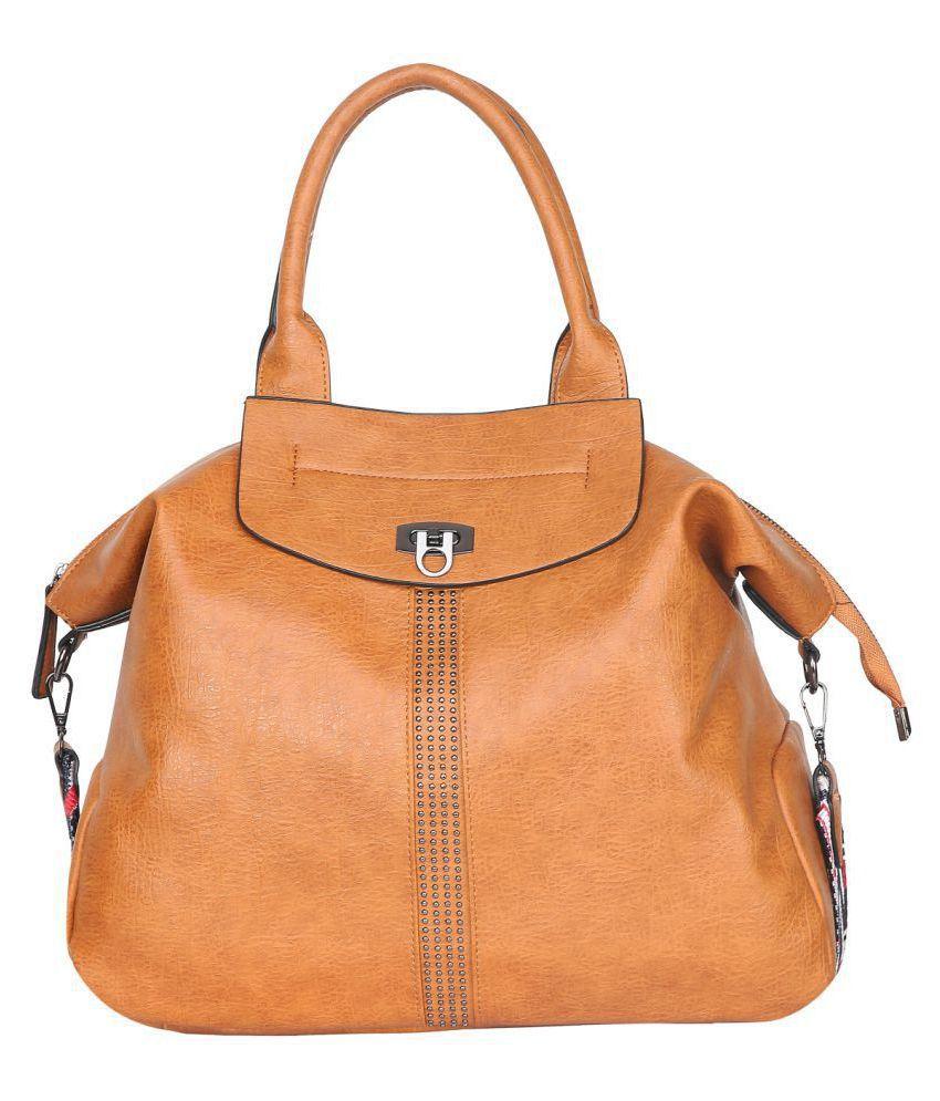 Fiona Trends Tan P.U. Shoulder Bag