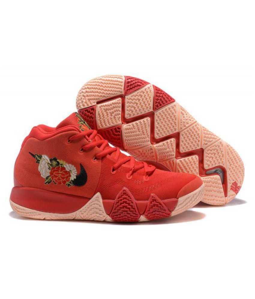 dbe59321407f ... Nike Kyrie 4 EP CNY IV Chinese New Year Floral Irving Asia Running  Shoes Red