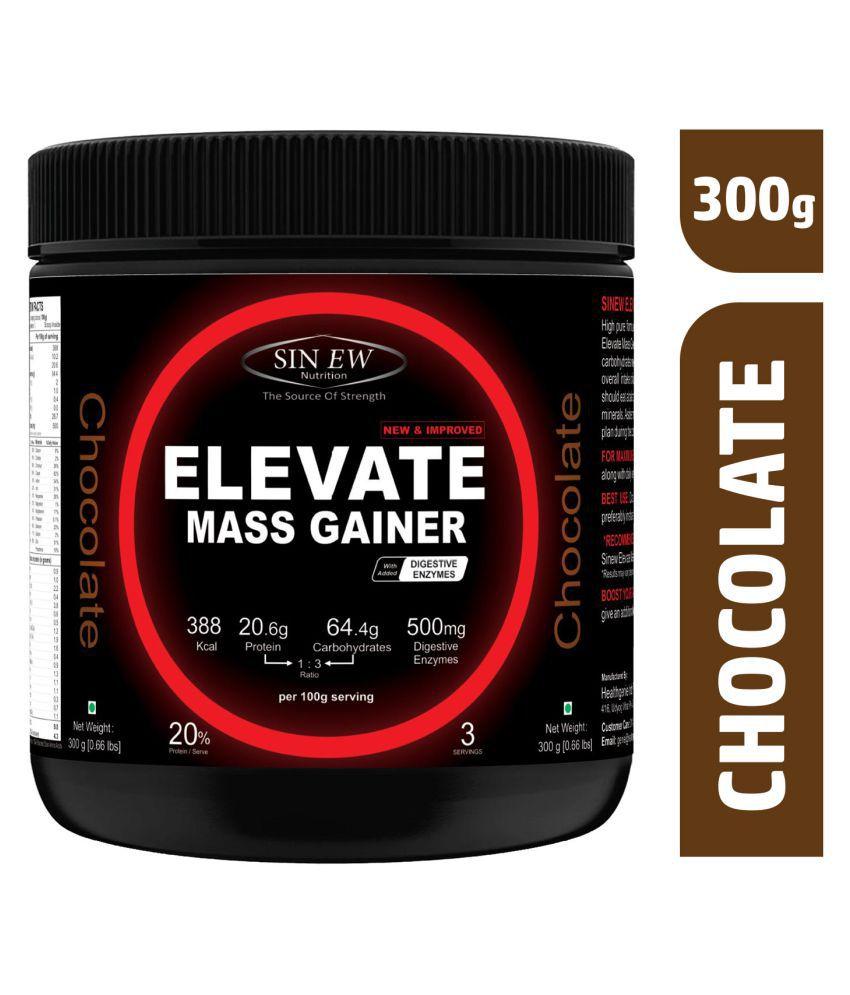 Sinew Nutrition ElevateMassgainerwith Digestive Enzymes 300 gm Mass Gainer Powder