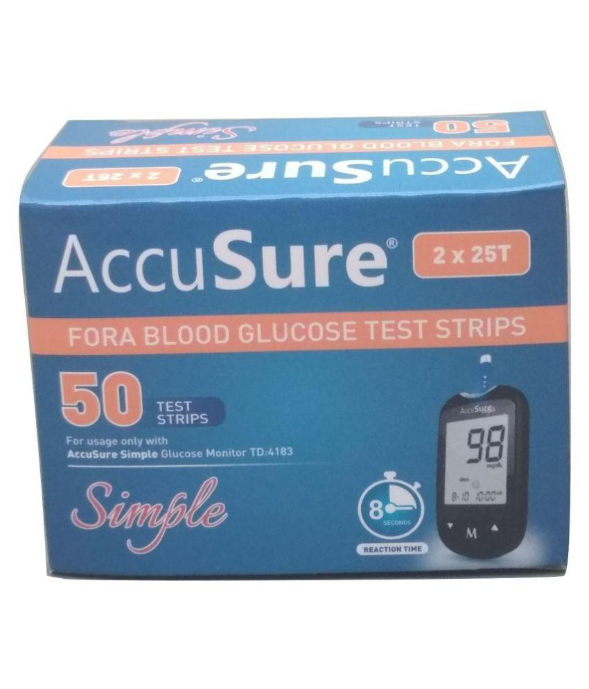 Accusure Simple Meter 50 strips pack only without Outer Box ( STRIPS EXP - JAN 2022)