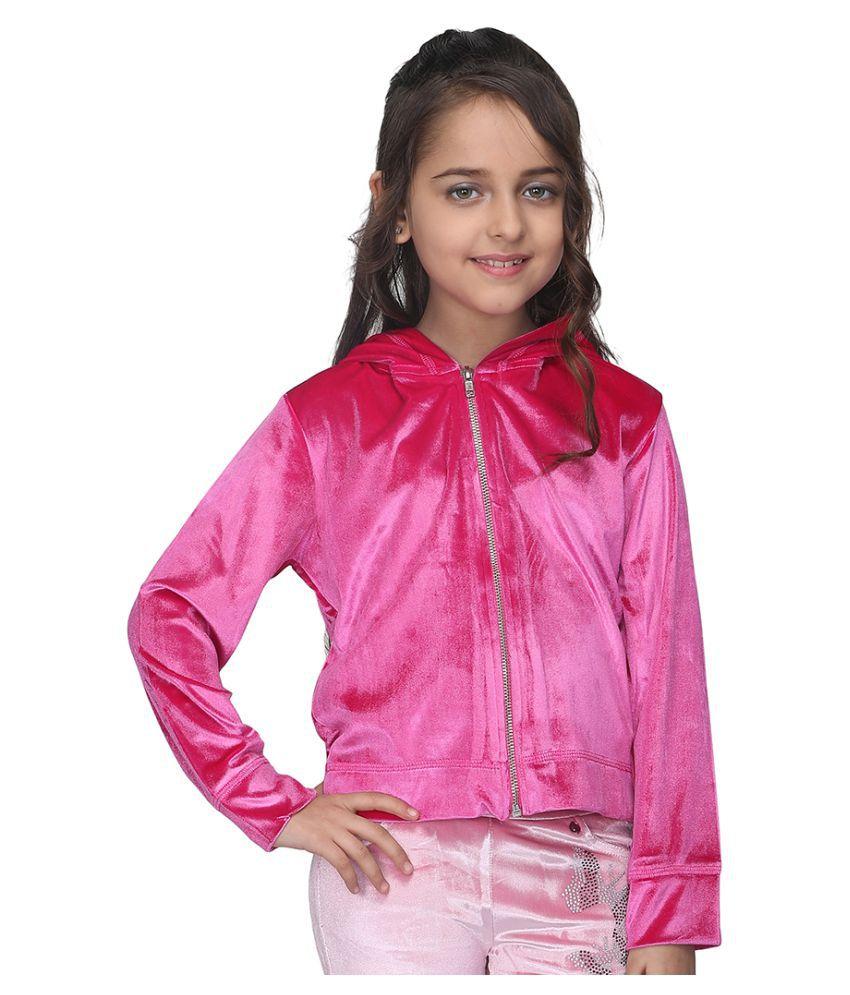 Cutecumber Girls Partywear Chenille Sweatshirt