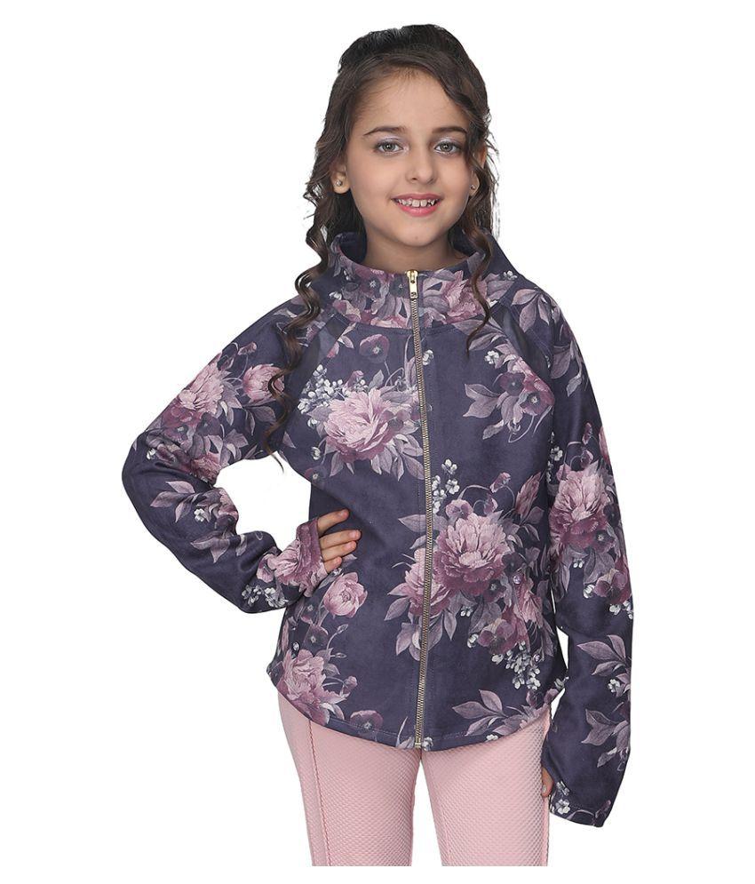 Cutecumber Girls Partywear Suede Jacket