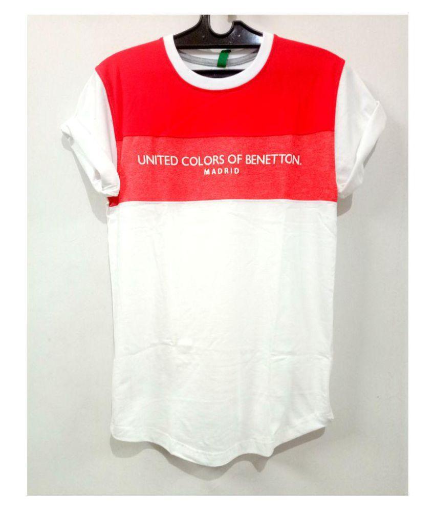 UCB Benetton White Half Sleeve T-Shirt