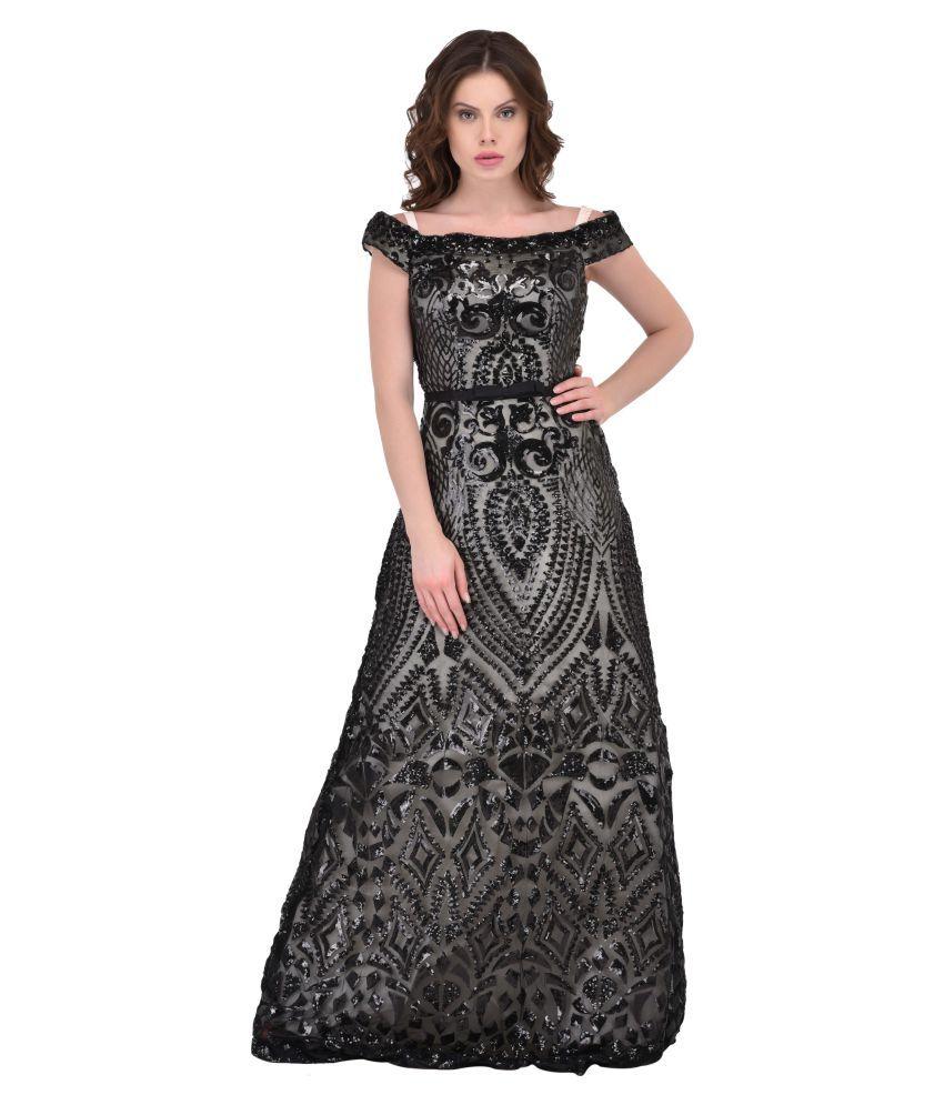 Ritu Designs Net Black Regular Dress