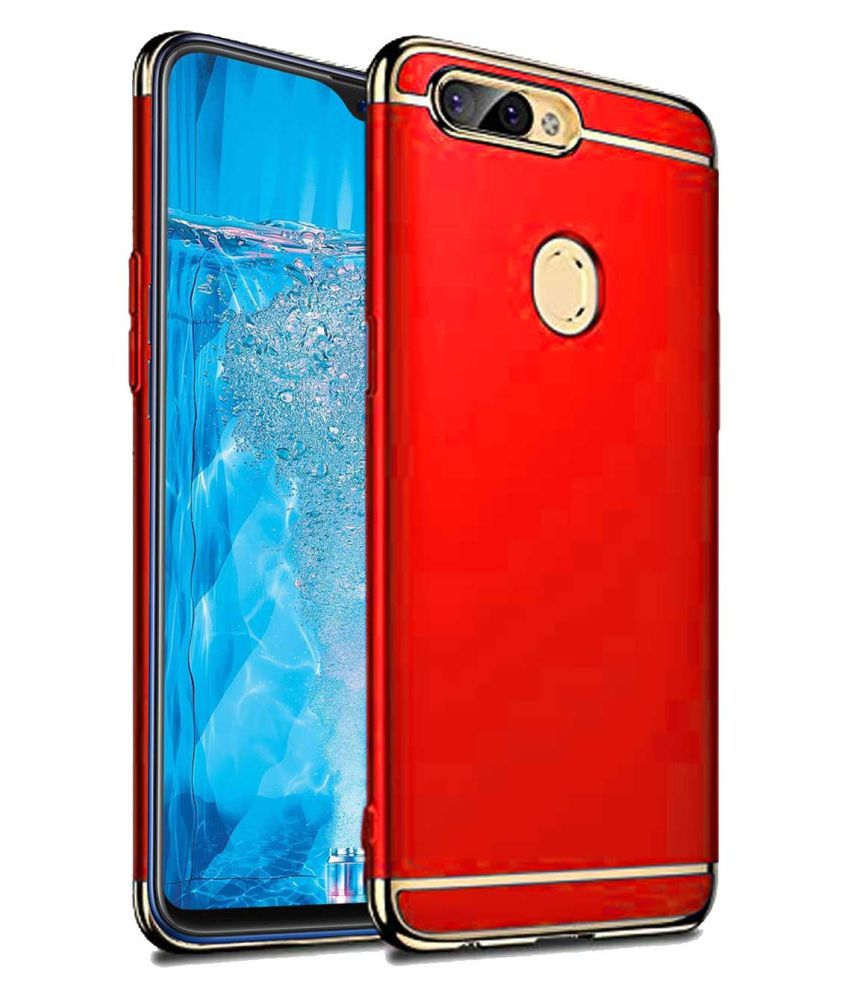 new style 1b717 af5b1 Realme U1 Plain Cases TBZ - Red