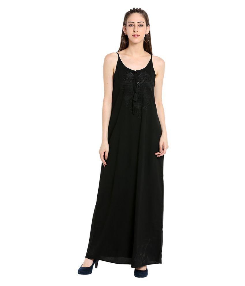 109 F Polyester BLACK Regular Dress