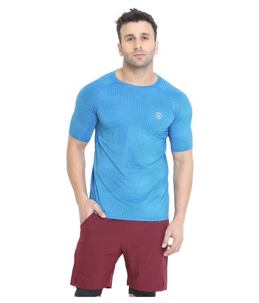 CHKOKKO Men's Half Sleeve Compression Gym T- Shirt for Men