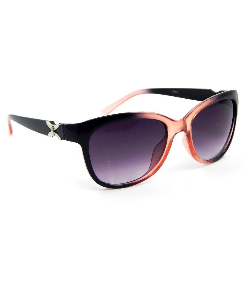 Els Black Oval Sunglasses ( K-164-RD-BL-S )