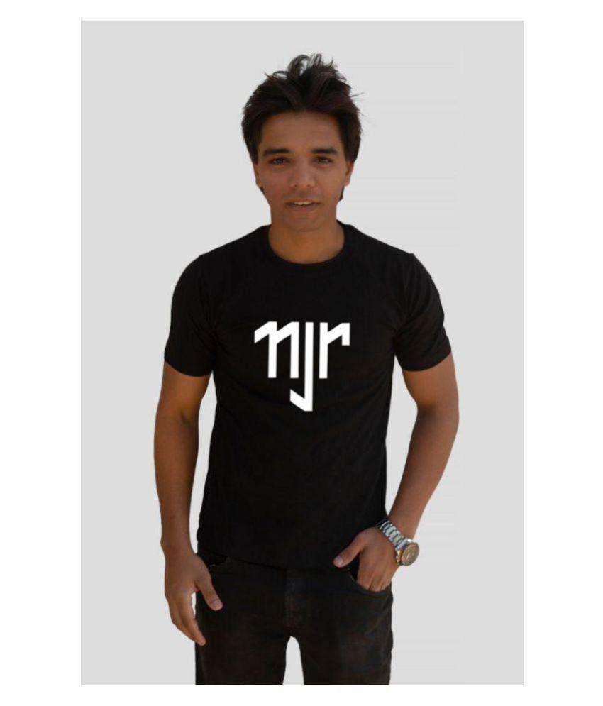 CTZSHOP Black Half Sleeve T-Shirt Pack of 1