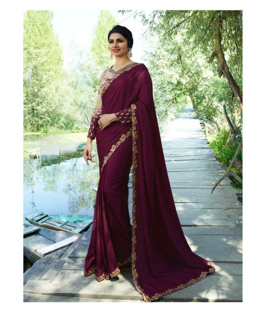 SareeA Maroon Silk Saree
