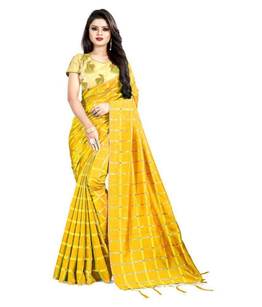 Taboody Empire Yellow Silk Saree