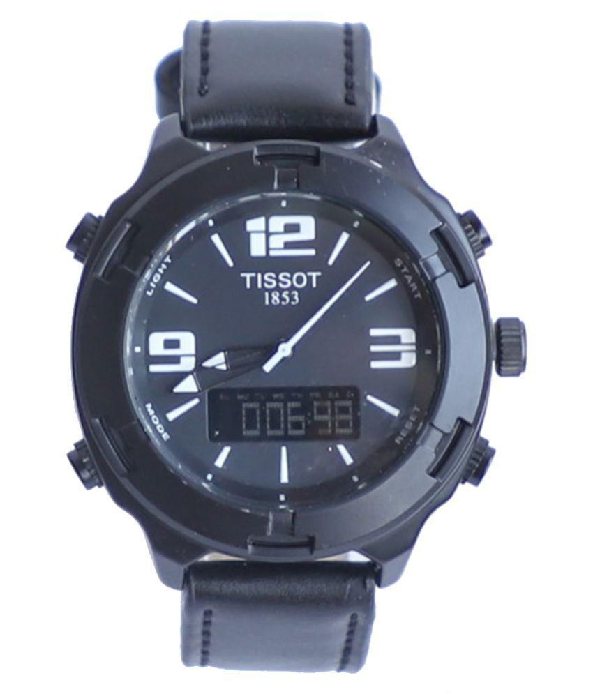 tissot sports watches tissot full black premium edition leather analog digital men s watch buy tissot sports watches tissot full black premium edition leather analog digital men s watch online at best prices in india snapdeal
