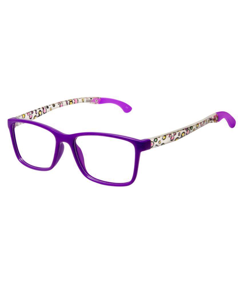Cardon Purple Rectangular Full Rim Kids EyeFrame