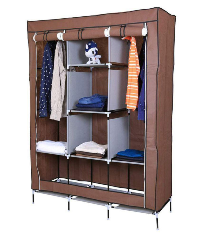 new style 4c5f0 a7482 Fancy & Portable Fabric Collapsible Foldable Clothes Closet Wardrobe  Storage Rack Organizer Cabinet Cupboard