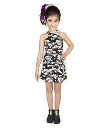 Addyvero Girls Printed Halter Neck Party Dress