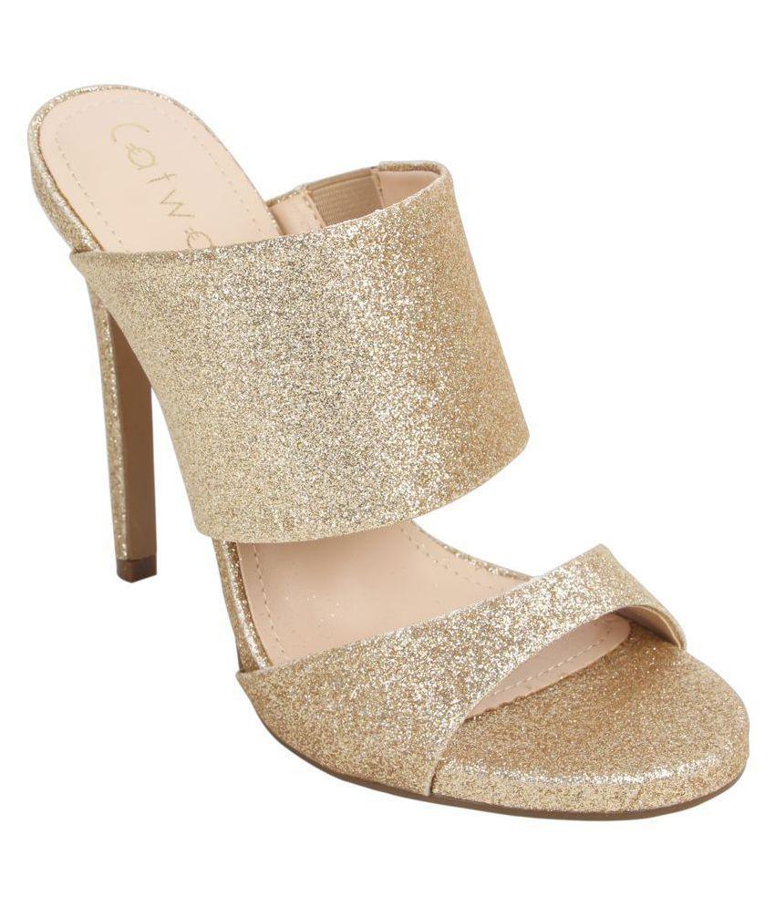 Catwalk Gold Stiletto Heels